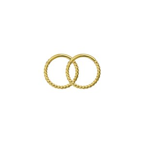 Hoops Surgical Steel 316L PVD-coating (gold color) Spiral