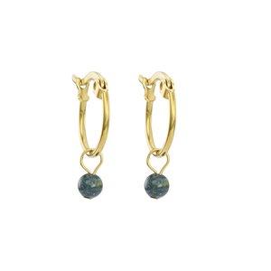 Ohrhänger Chirurgenstahl 316L PVD Beschichtung (goldfarbig) Naturstein