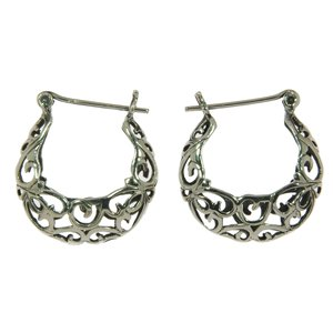 Hoops Silver 925 Tribal_pattern Wave Spiral