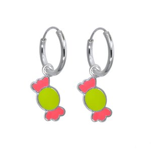 Kids earrings Silver 925 Enamel