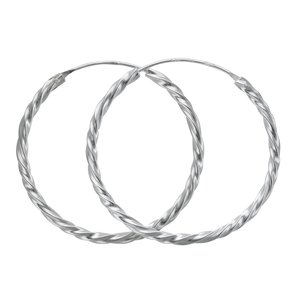 Hoops Silver 925 Spiral Eternal Loop Eternity