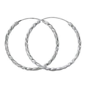 Créoles Argent 925 Spirale Éternel Dragonne Infini