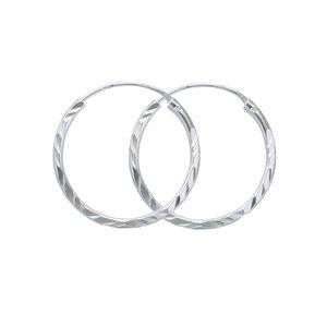 creolen Zilver 925 streep lijn ribbels