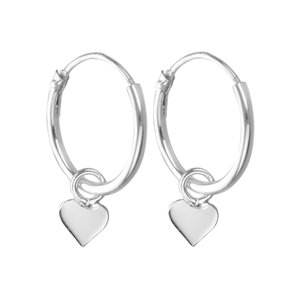 Hoops Silver 925 Heart Love