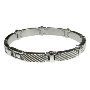 Bracelet Acier inoxydable Bandes Rayures Zébrure