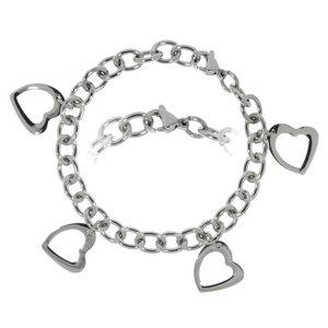 armband Staal hart liefde