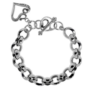 Bracelet Stainless Steel Heart Love