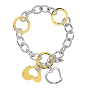 Bracelet Stainless Steel Gold-plated Heart Love