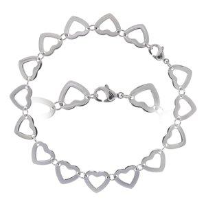 Bracelet Stainless Steel Heart Love