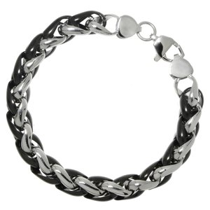 Bracelet Stainless Steel Black PVD-coating