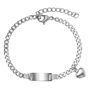Kids bracelet Stainless Steel Heart Love