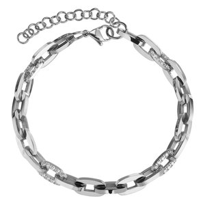 armband Staal Zirkonia