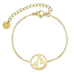 PAUL HEWITT Armband Edelstahl PVD Beschichtung (goldfarbig) Anker, Seil, Schiff,