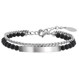 armband Staal Agaat