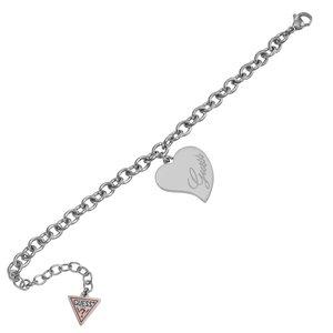 GUESS Armband Edelstahl Herz Liebe