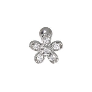 Ear piercing Surgical Steel 316L zirconia PVD-coating (gold color) Flower