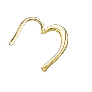 Ear piercing Surgical Steel 316L PVD-coating (gold color) Heart Love Heartilage