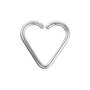 Ear piercing Surgical Steel 316L Heart Love Heartilage