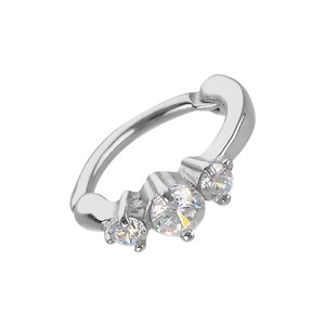 Ear piercing Stainless Steel Crystal