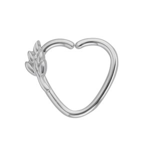 Ear piercing Surgical Steel 316L Leaf Plant_pattern