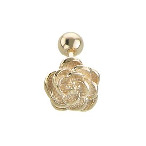 Ear piercing Surgical Steel 316L PVD-coating (gold color) Rose