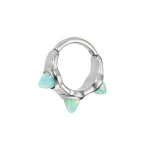 oorpiercing Chirurgisch staal 316L Synthetisch opaal Druppel Druppelvorm Waterdruppel