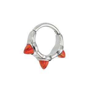 Piercing orecchio Metallo chirurgico 316L Synthetic opal Goccia Forma_di _goccia