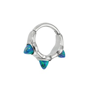 Ear piercing Surgical Steel 316L Synthetic opal Drop drop-shape waterdrop
