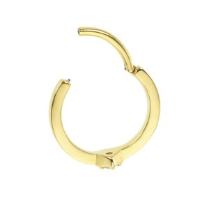 Piercing de oreja Acero quirúrgico Revestimiento PVD (color oro) Zirconia de Swarovski