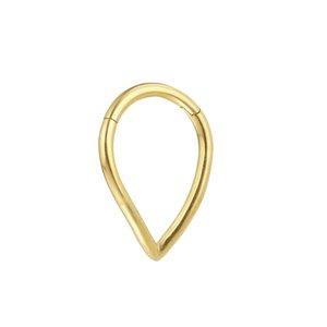 Ohrpiercing Chirurgenstahl 316L PVD Beschichtung (goldfarbig)