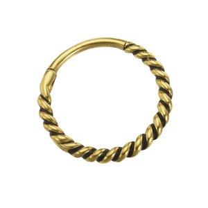 Ohrpiercing Chirurgenstahl 316L PVD Beschichtung (goldfarbig) Spirale