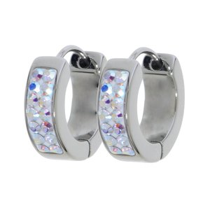 Hoops Stainless Steel Swarovski crystal