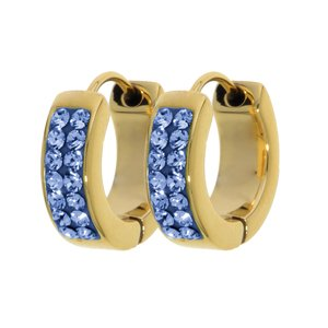 Hoops Stainless Steel PVD-coating (gold color) Swarovski crystal