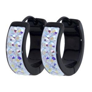 Ohrringe Edelstahl PVD Beschichtung (schwarz) Swarovski Kristall