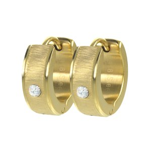 Hoops Stainless Steel Crystal PVD-coating (gold color)