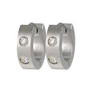 Hoops Stainless Steel Crystal