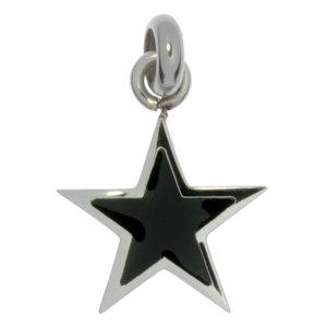 Colgante de acero inoxidable Acero fino Revestimiento PVD (negro) Estrella