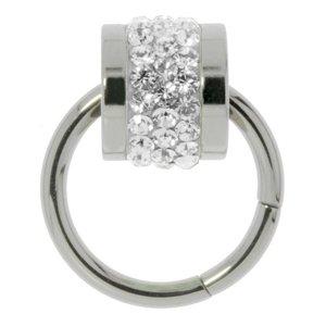 Stainless steel pendant Stainless Steel Swarovski crystal