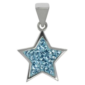 Stainless steel pendant Stainless Steel Crystal Star