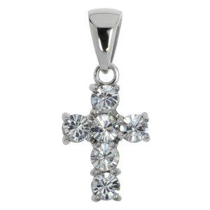 Pendentif Acier inoxydable Cristal Croix