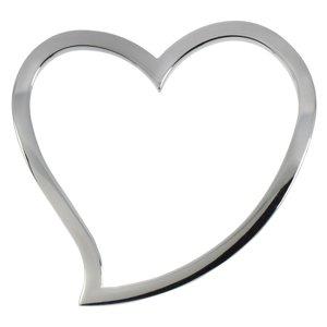 Edelstahl-Anhänger Edelstahl Herz Liebe