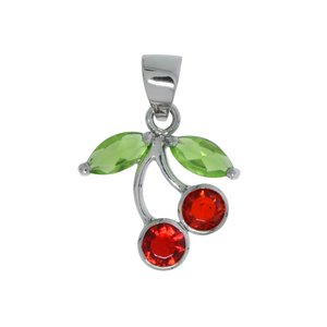Stainless steel pendant Stainless Steel Crystal Cherry