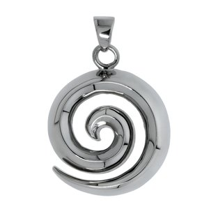 Stainless steel pendant Stainless Steel Spiral