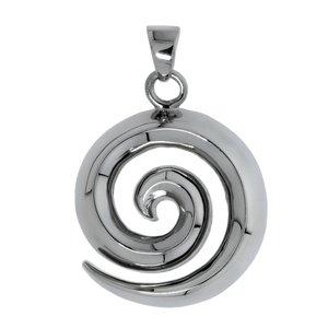 Edelstahl-Anhänger Edelstahl Spirale