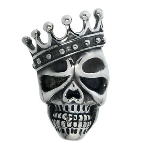 Edelstahl-Anhänger Edelstahl Totenkopf Schädel Knochen Krone