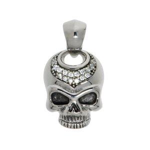 Stainless steel pendant Stainless Steel Crystal Skull Skeleton