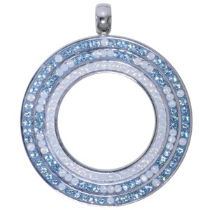 Stainless steel pendant Stainless Steel Crystal