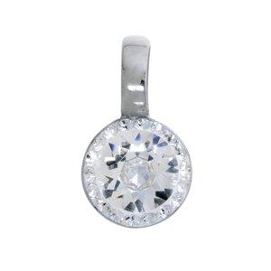 Colgante de acero inoxidable Acero fino Cristal cristales de Swarovski