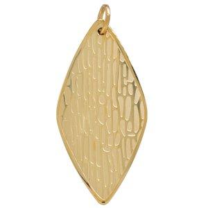 Colgante de acero inoxidable Acero fino Revestido de oro Hoja Diseño_floral