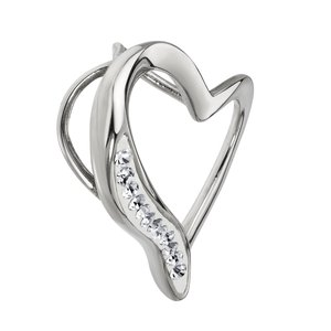 Stainless steel pendant Stainless Steel Crystal Heart Love